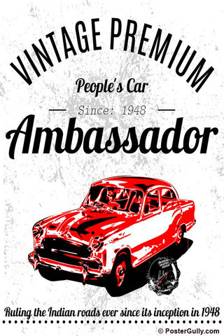 Wall Art, Ambassador Car Artwork | Artist: Devraj Baruah, - PosterGully - 1