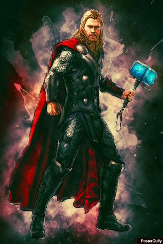 Wall Art, Thor Avengers Black Artwork | Artist: Amit Kumar, - PosterGully - 1