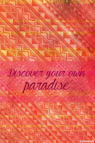 Wall Art, Discover Your Own Paradise Artwork | Artist: Simran Anand, - PosterGully - 1