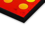 Glass Framed Posters, 6 Yellow Circles Red Abstract Glass Framed Poster, - PosterGully - 2