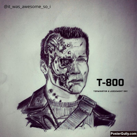 Square Art Prints, Terminator #2 Artwork | Artist: Salman Jamadar, - PosterGully