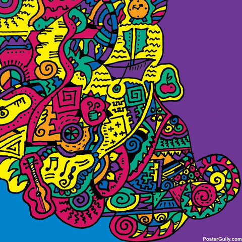 Brand New Designs, Doodle Abstract Artwork | Artist: Meghnanimous, - PosterGully
