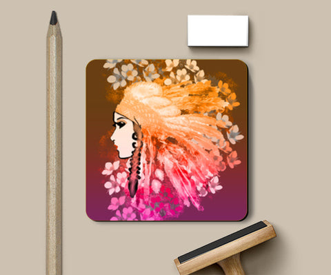 Pretty Girl Coasters | Artist : Design_Dazzlers