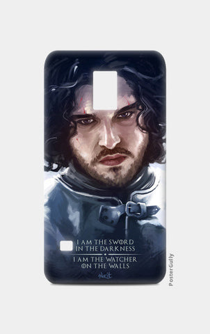 Samsung S5 Cases, Jon Snow | the watcher Samsung S5 Case | Artist : Aniruddha Lele, - PosterGully