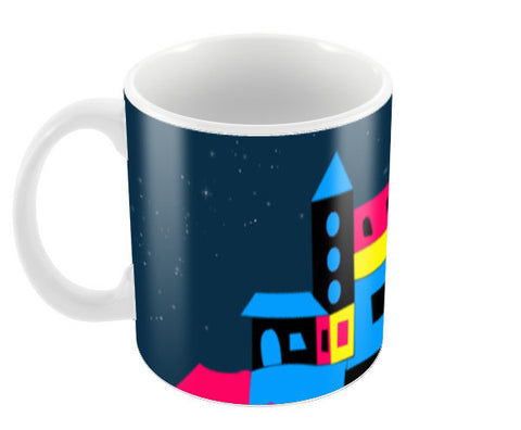 Colorful House Coffee Mugs | Artist : Nisha Prabhu