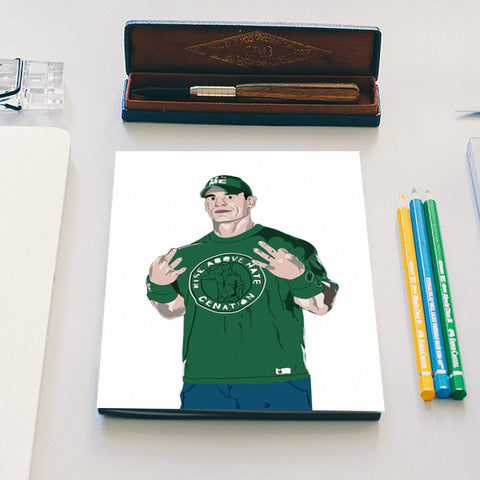 John Cena, WWE, Rise Above Hate Notebook Notebook | Artist : Nihal Dad Khan