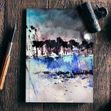 abstract landscape 612 Notebook | Artist : pol ledent