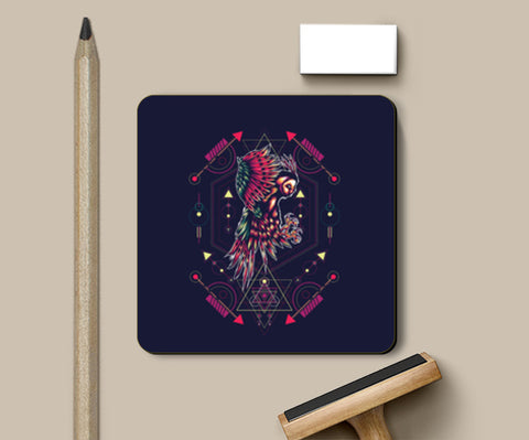 Owl Artwork Coasters | Artist : Inderpreet Singh