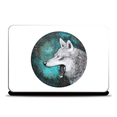 Blue Wolf Laptop Skins | Artist : Prakersh Gupta