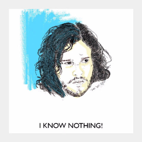Square Art Prints, Jon Snow Knows Nothing | Artist: Tridib Das, - PosterGully