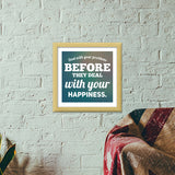 Typography Premium Square Italian Wooden Frames | Artist : Delusion