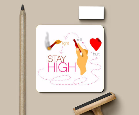 Coasters, Stay High Coaster | Artist: saurabhzuve, - PosterGully