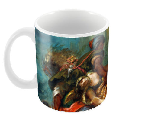 The Abduction of Rebecca by Eugène Delacroix Coffee Mugs | Artist : Aditya Gupta