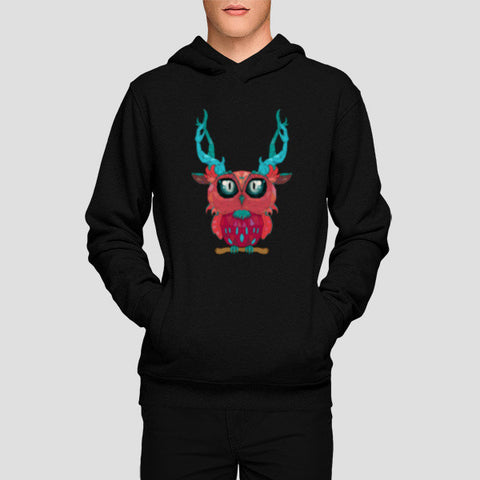 Hoodies, Cute Owl In The Town Hoodies | Artist : Nitin Kapoor, - PosterGully - 1
