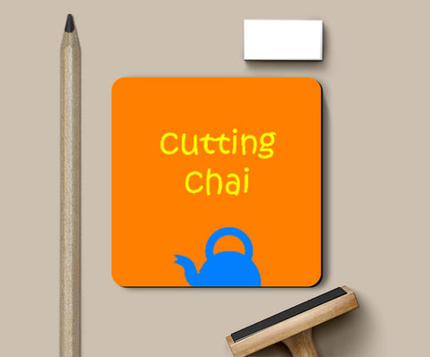 Coasters, Cutting Chai Coaster | Artist: Gagandeep Singh, - PosterGully