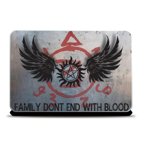 Laptop Skins, Supernatural: Family don't end with blood 2 Laptop Skins | Artist : Gauri Deshpande, - PosterGully