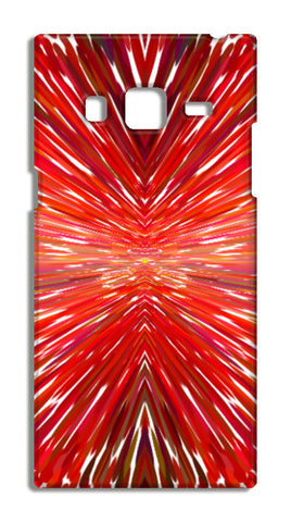 Abstract Red Burst Modern Design Samsung Galaxy Z3 Cases | Artist : Seema Hooda