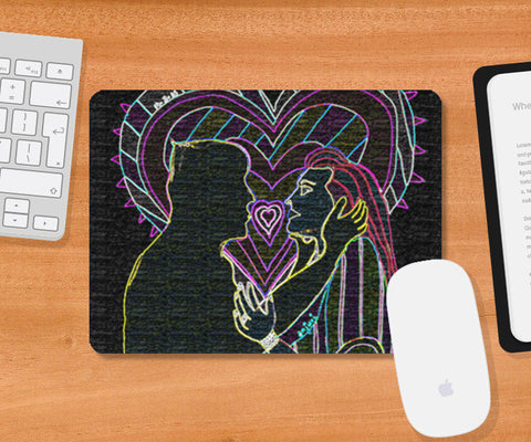 Love (neon sign) Mousepad | Artist : Anjuri Jain