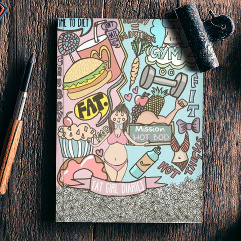 Fat Girl Diaries Doodle Notebook | Artist : Priyanka Paul
