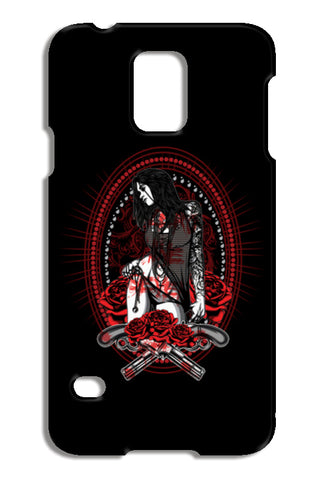 Woman With Tattooed Hand Samsung Galaxy S5 Cases | Artist : Inderpreet Singh