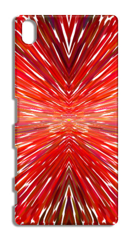 Abstract Red Burst Modern Design Sony Xperia Z5 Cases | Artist : Seema Hooda