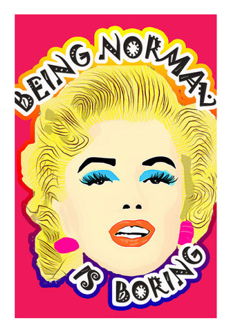 Marilyn Monroe Quote Wall Art | Artist : Design_Dazzlers