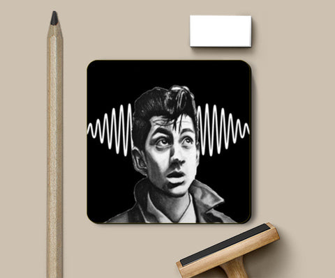 Alex Turner from Arctic Monkeys Coasters | Artist : Aninya Gangal