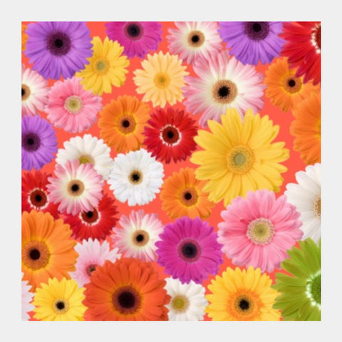 Flowers everywhere Square Art Prints | Artist : Pallavi Rawal