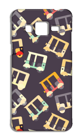 Auto rickshaw quirky pattern Samsung Galaxy J5 Cases | Artist : Designerchennai