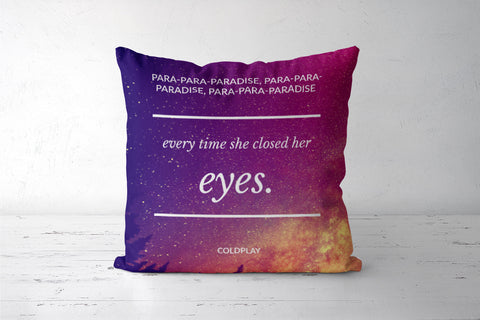 Paradise - Coldplay Cushion Covers | Artist : Yash Guwalani