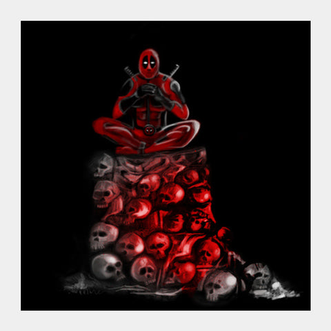 Square Art Prints, Deadpool Being Deadpool Square Art Prints | Artist : Safal Adam, - PosterGully
