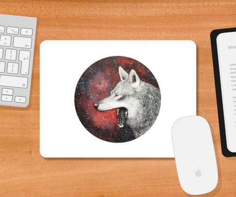Red Wolf Mousepad | Artist : Prakersh Gupta