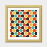 Multi colored repetition shape background Premium Square Italian Wooden Frames | Artist : Designerchennai