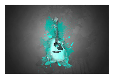 Guitar Splash – Aqua Wall Art  | Artist : Darshan Gajara's Artwork