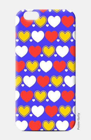 Hearts seamless multicolor pattern iPhone 6/6S Cases | Artist : Designerchennai