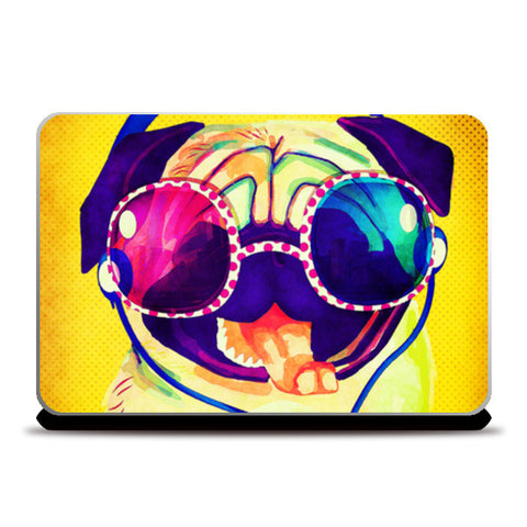 crazy dog Laptop Skins | Artist : abhijeet sinha
