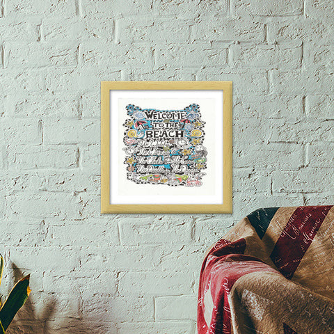 Premium Square Italian Wooden Frames, why go to the beach Premium Square Italian Wooden Frames | Artist : Suneera Heloise Mendonsa, - PosterGully - 1