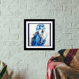 Premium Square Italian Wooden Frames, Wolf Blue Premium Square Italian Wooden Frames | Artist : Sukanya Chakraborty, - PosterGully - 1