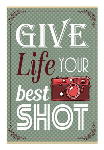 PosterGully Specials, Camera Life Quote Wall Art | Artist : Mosaik | PosterGully Specials, - PosterGully