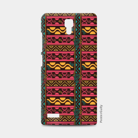 Abstract geometric pattern african style Redmi Note Cases | Artist : Designerchennai