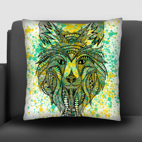 Patterned Wolf Cushion Covers | Artist : Swathi Kirthyvasan
