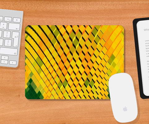 Mousepad, Yellow 3D Blocks Mousepad | Artist : CK GANDHI, - PosterGully