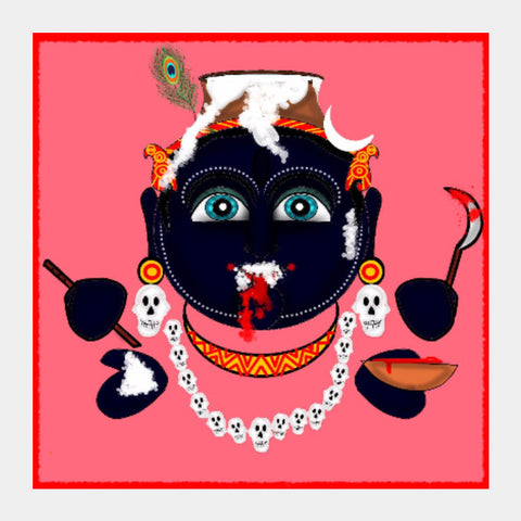 Square Art Prints, Krishna Kali Square Art Prints | Pratyasha Nithin, - PosterGully