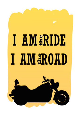 Rider is the Ride is the road Wall Art | Artist : Keshava Shukla