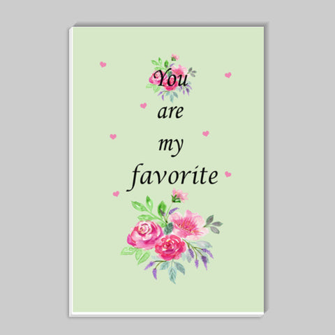 You Are My Favorite Typography Quote Nursery Print Stick Ons | Artist : Seema Hooda