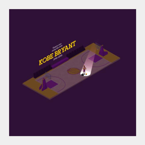 NBA Basketball Kobe Bryant Isometric Minimal Square Art Prints PosterGully Specials