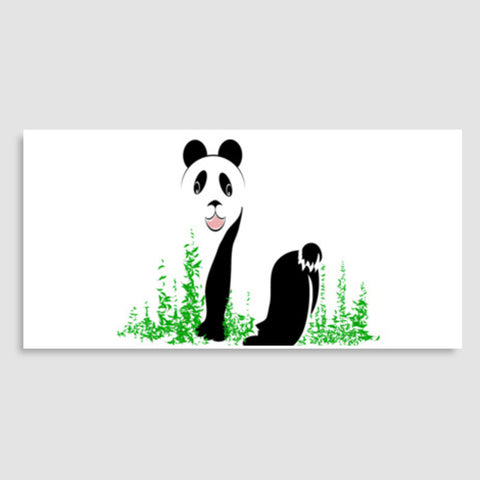 THE PANDA is a symbol of gentleness and strength. it is an auspicious symbol of peace, harmony Door Poster | Artist : amit kumar