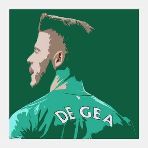 David De Gea  Square Art Prints | Artist : Namit Halakhandi