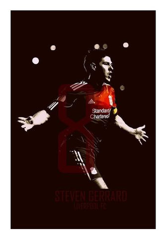 PosterGully Specials, Steven Gerrard - Liverpool FC  Wall Art | Artist : Syamantak Dubey, - PosterGully