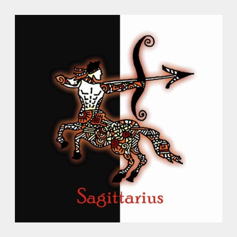Square Art Prints, Sagittarius Zodiac Zenscrawl Square Art Prints | Artist : Meghnanimous, - PosterGully